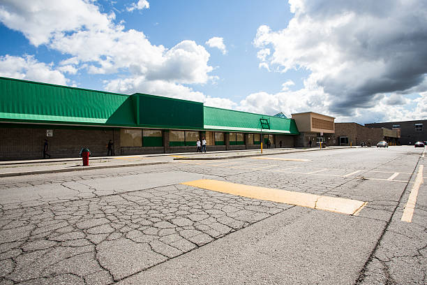 Vacant Strip Mall stock photo