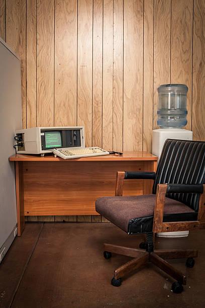 Unbebautes 70 er-Jahre vintage-oder 80's wood Büro – Foto