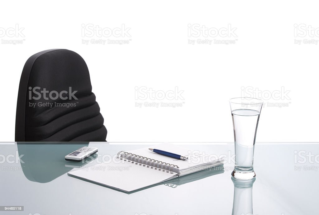vacant workplace royalty-free stock photo