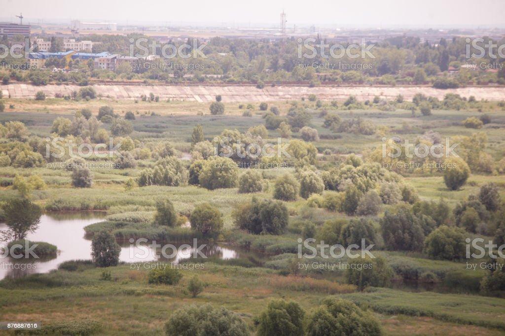 Vacaresti lake and swamp in Bucharest stock photo