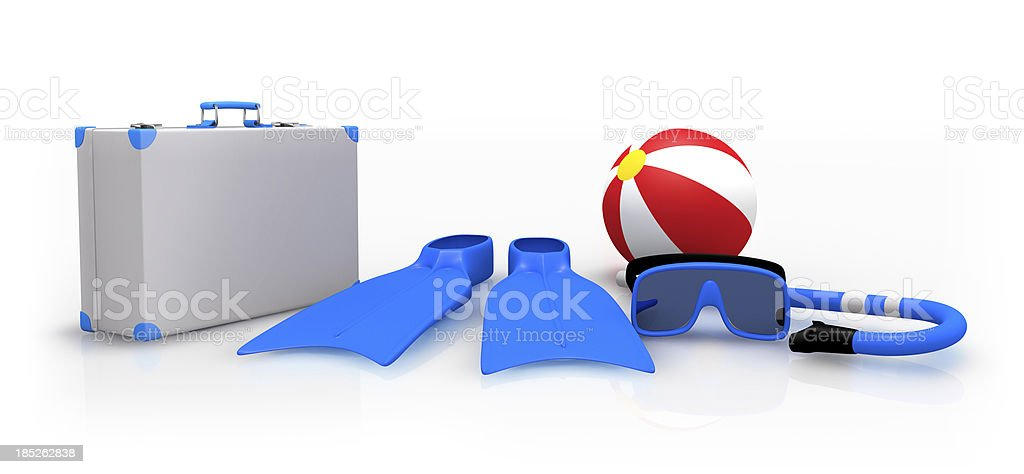 Vacation 3D concept stock photo
