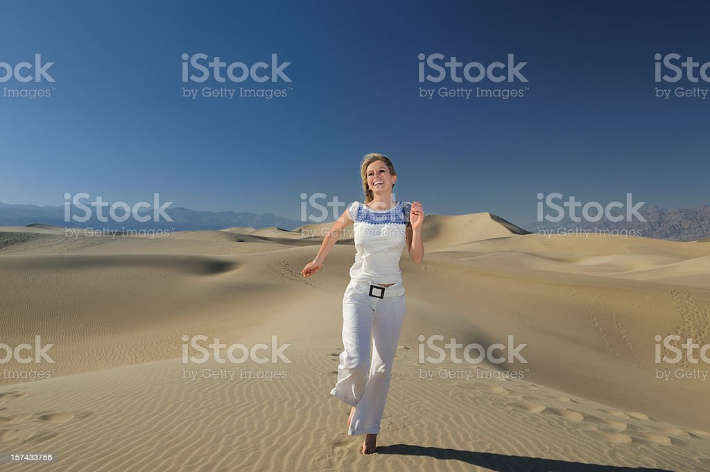 Vacation, a time to let go. Deathy Valley Sand Dunes royalty-free stock photo