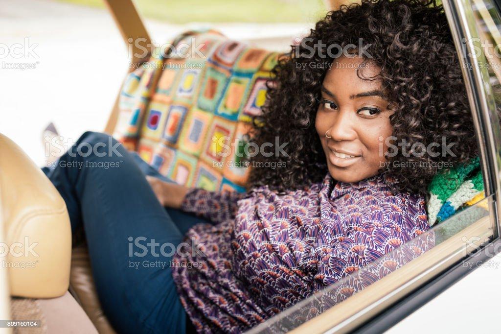 Vacation and car rentals stock photo