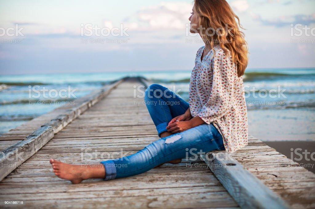 Vacation at the sea stock photo