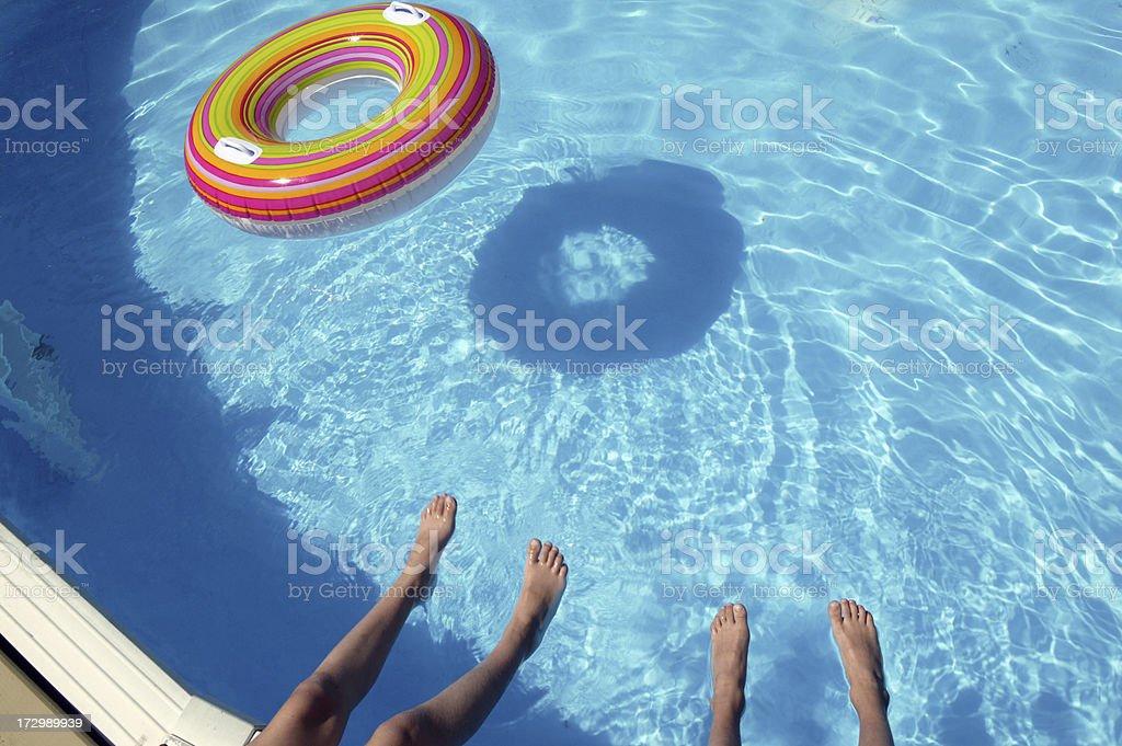 vacation at the swimming pool royalty-free stock photo