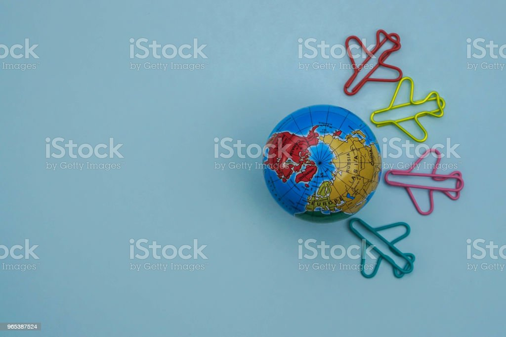 vacation concept - travel around the world by air plane royalty-free stock photo