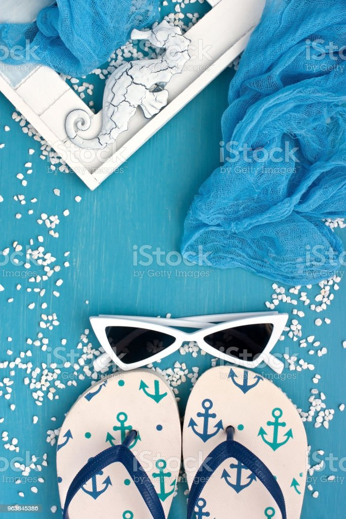 Vacation concept with marine theme stock photo
