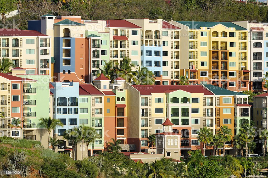 Vacation Condos in US Virgin Islands royalty-free stock photo