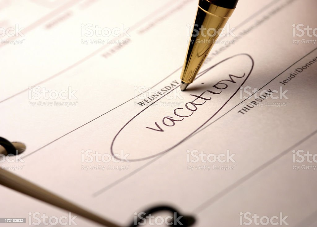Vacation Date Reminder royalty-free stock photo