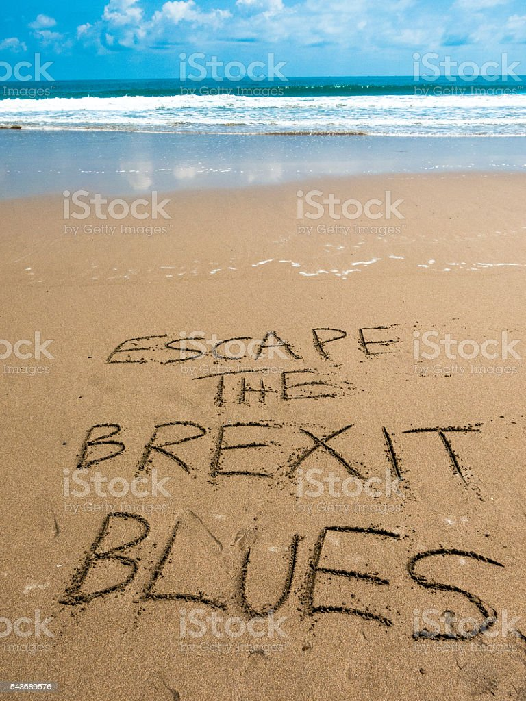 Vacation Escape Brexit Blues post European Referendum stock photo