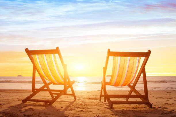 vacation for couple, beach holidays stock photo