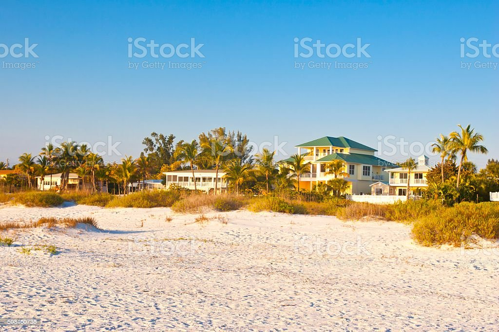 Vacation Homes and Villas at a Florida Beach stock photo
