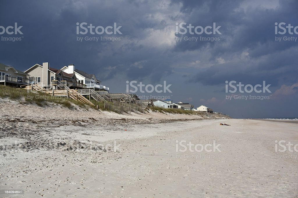 Vacation homes on Topsail Island - NC Outer Banks royalty-free stock photo