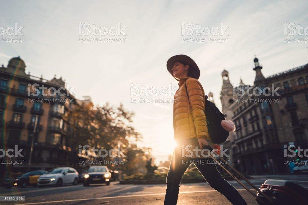 Vacation in Barcelona stock photo