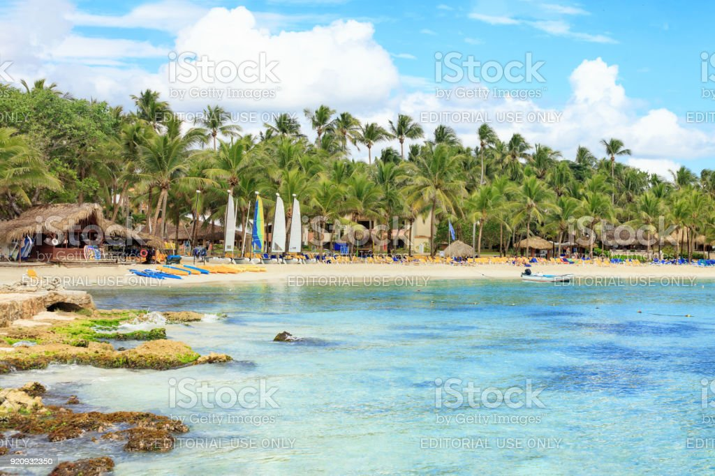 Vacation in Dominican Republic stock photo