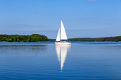 Vacation in Poland - sailboat on the Niegocin lake, Masuria