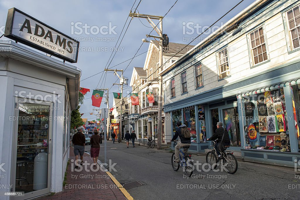 Vacation in Provincetown stock photo