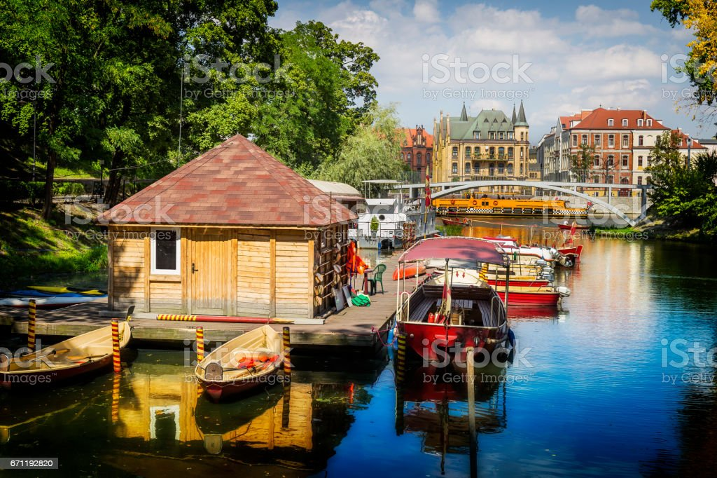 Vacation in the Wroclaw, Poland stock photo