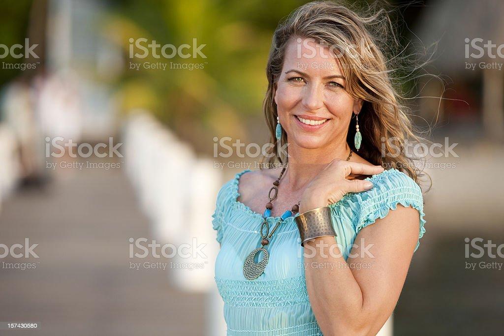 Vacation Lifestyles-Beautiful Woman Portrait royalty-free stock photo