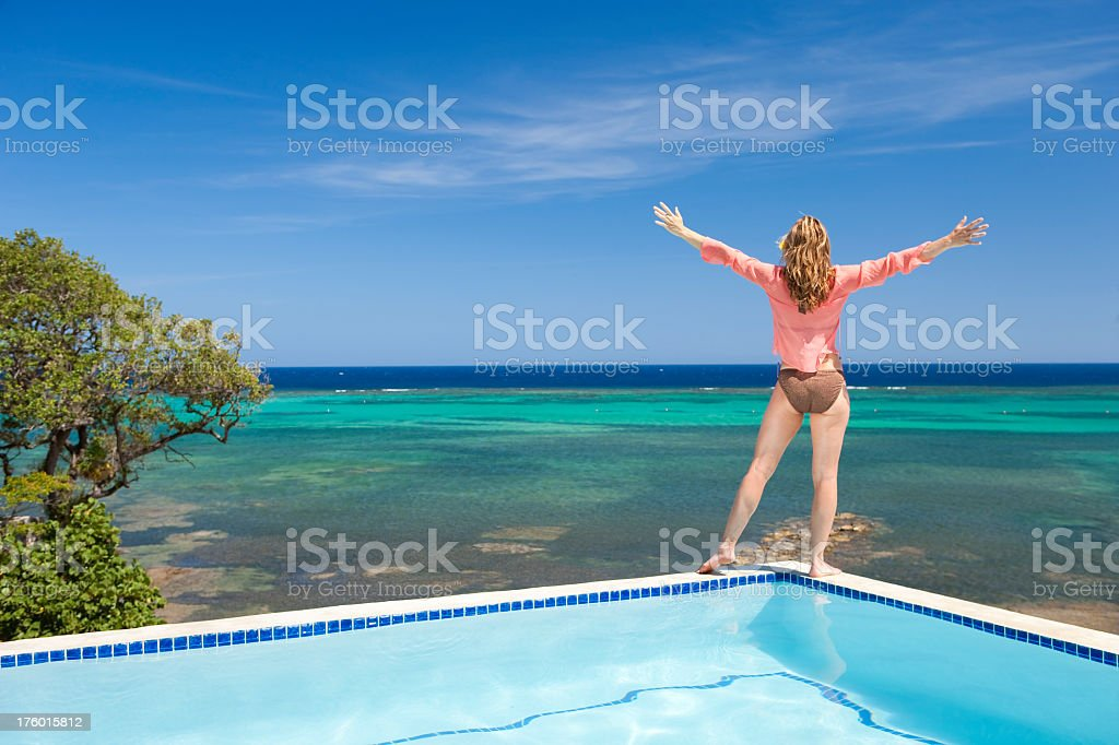 Vacation Lifestyles-Carefree Woman royalty-free stock photo