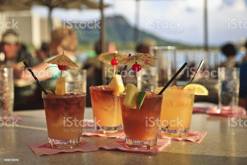 Vacation Mai Tai stock photo