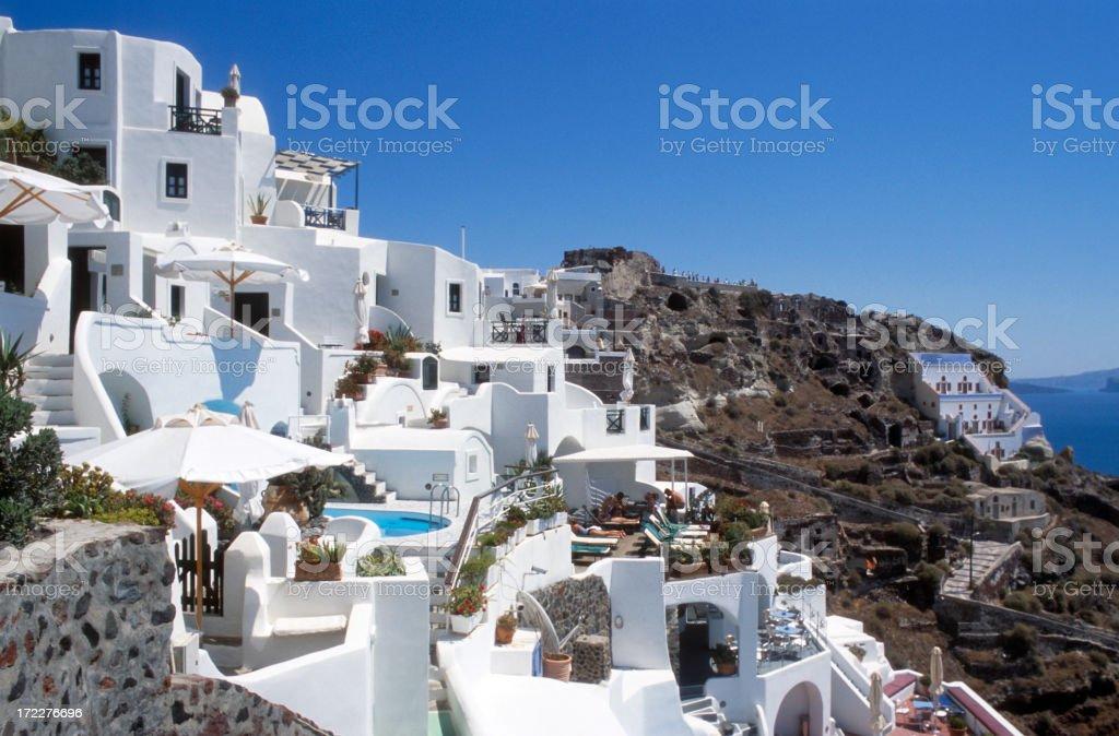 Vacation on Santorini Island royalty-free stock photo