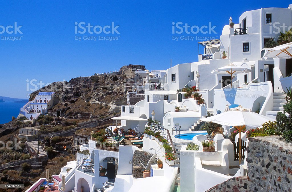 Vacation on Santorini Island royalty-free stock photo