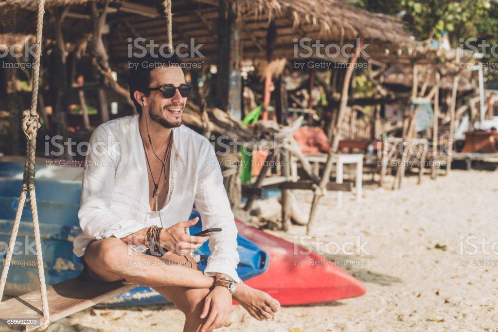 Vacation on the amazing beach stock photo