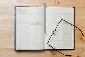 istock Vacation plan written on calendar 514332464
