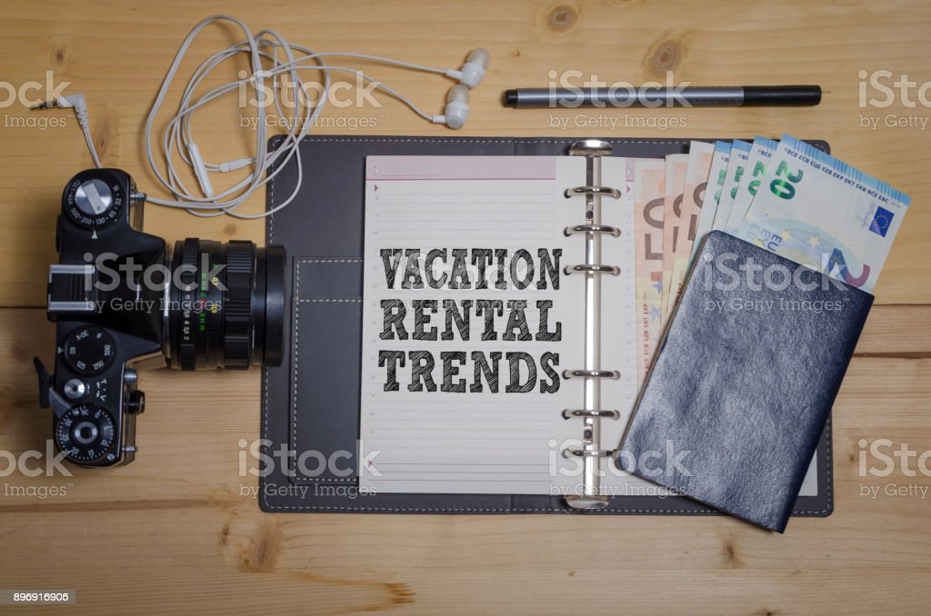 Vacation rental trends stock photo