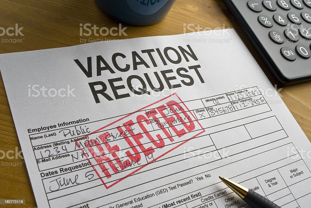 Vacation Request royalty-free stock photo