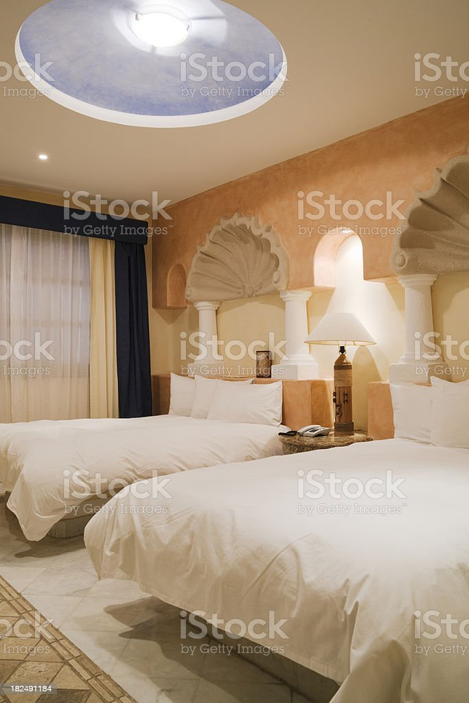 Vacation Resort Hotel Room in the Caribbean Vt royalty-free stock photo