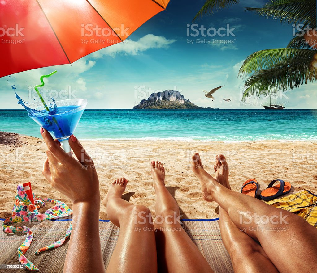 Exotic Beach: Vacation Summer Tropical Beach Stock Photo