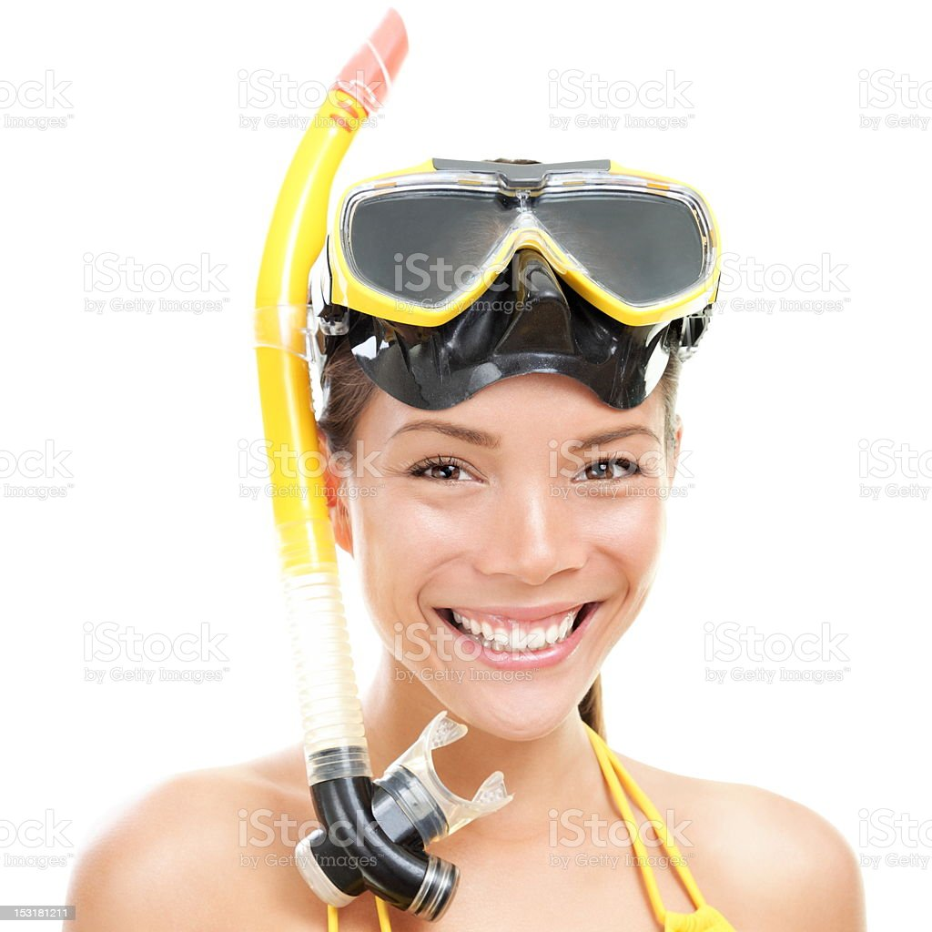 Vacation swimming woman isolated royalty-free stock photo