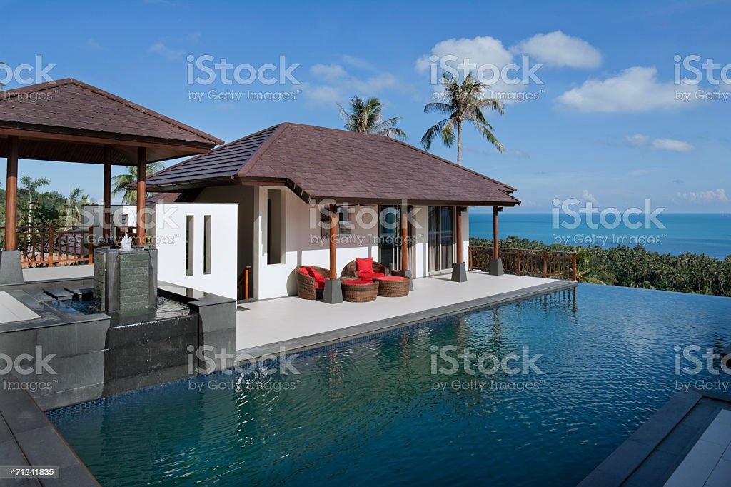 Vacation Villa stock photo