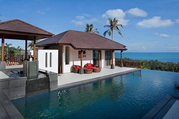 vacation villa - ferienhaus thailand stock-fotos und bilder