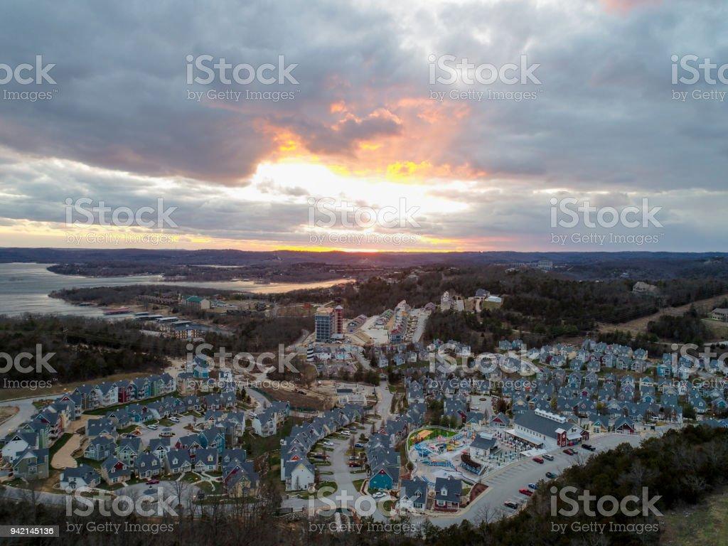 Vacation Village in Branson stock photo
