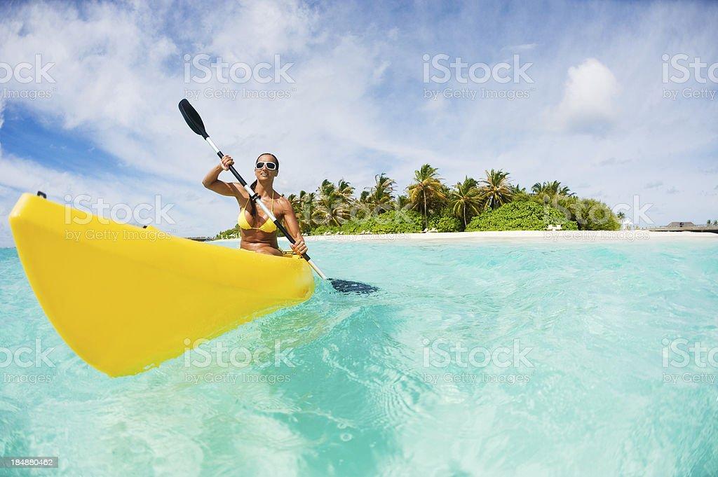 Vacation With Kayak stock photo