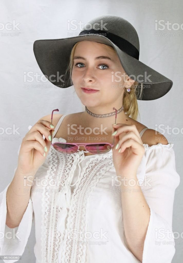Vacationing Blond Woman - Royalty-free Adult Stock Photo