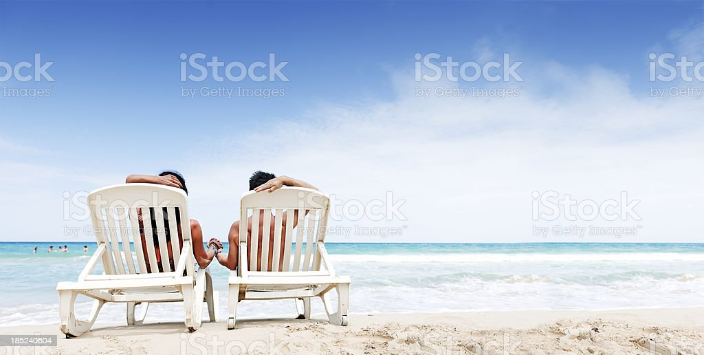 Vacations at the beach royalty-free stock photo