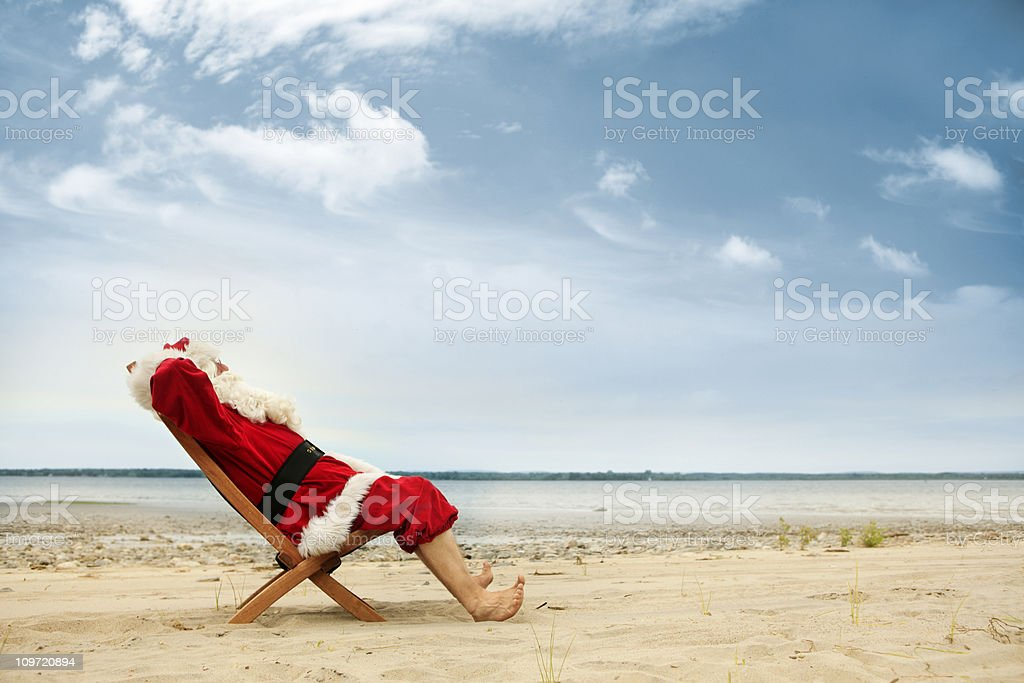 Vacations for Santa stock photo