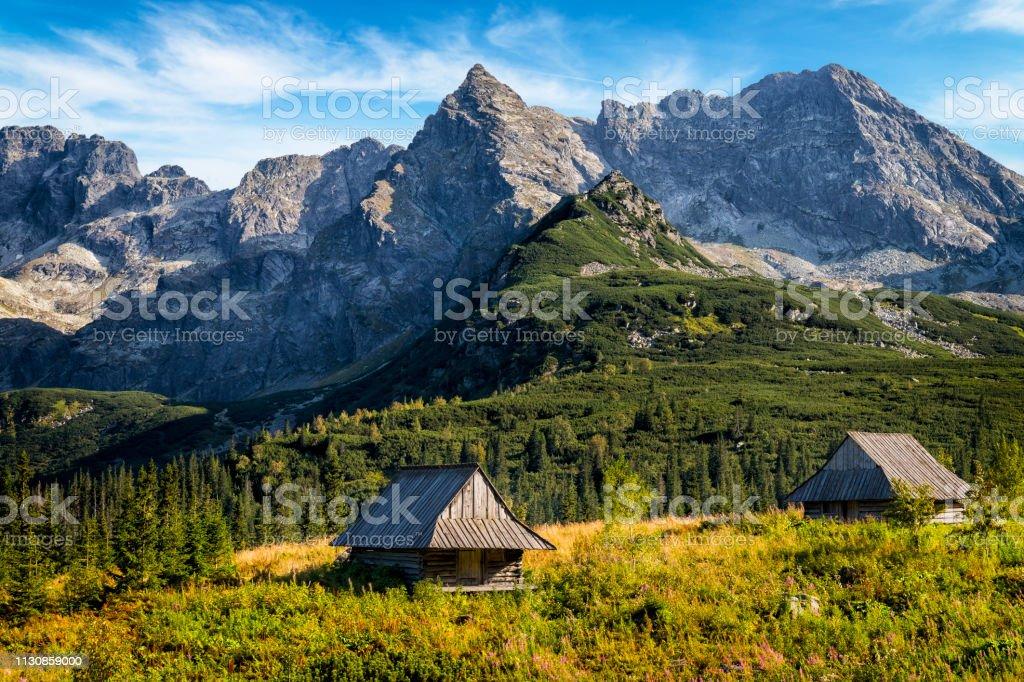 Vakanties in Polen-Gasienicowa Valley, Tatra gebergte, Polen - Royalty-free Avontuur Stockfoto