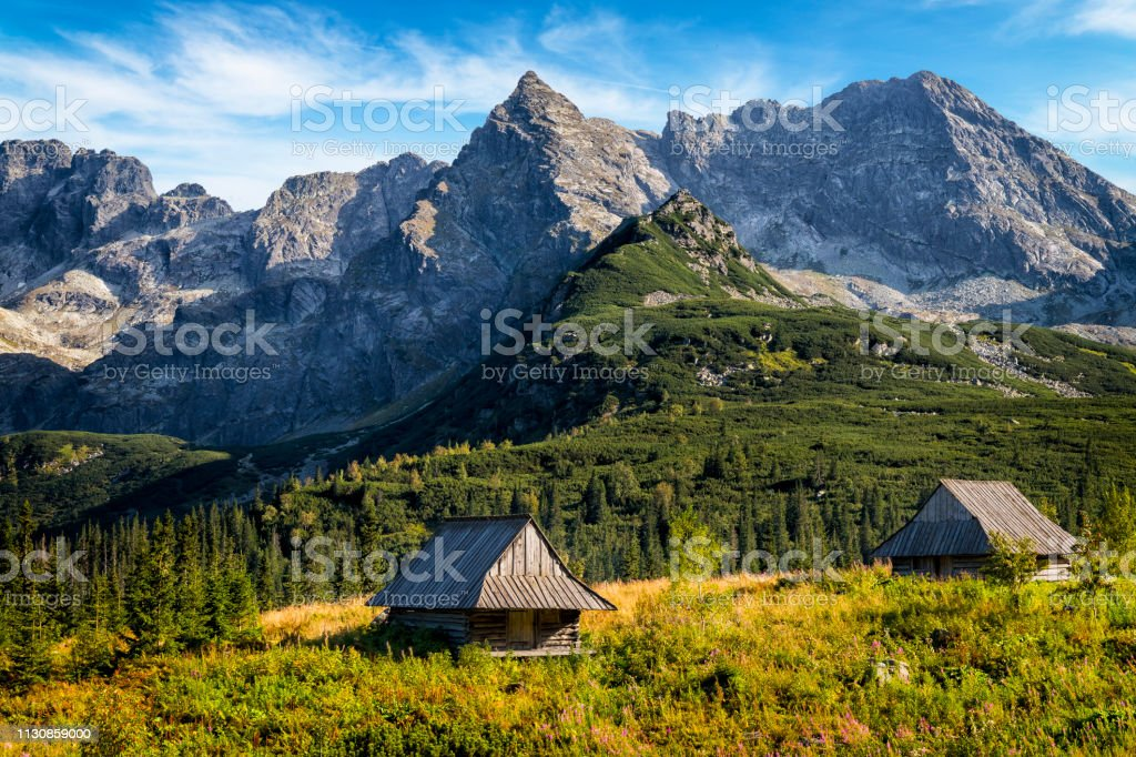 Polonya 'da tatil-Gasienicowa Vadisi, Tatra Mountains, Polonya - Royalty-free Avrupa Stok görsel