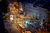 istock Vacations in Poland - Krakowskie Przedmieście street at night, Warsaw 1199193546