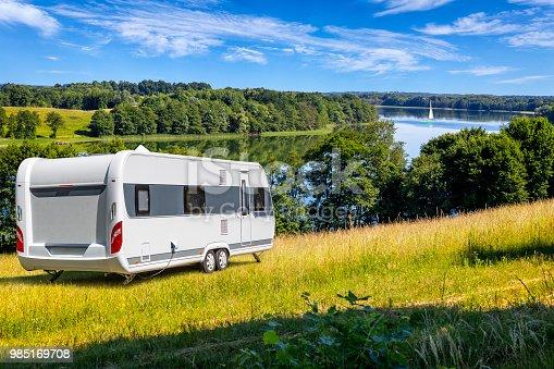 Vacations in Poland - Summer view of Drawsko lake in Zachodniopomorskie land