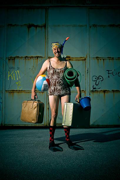vacances au slums - valise humour photos et images de collection