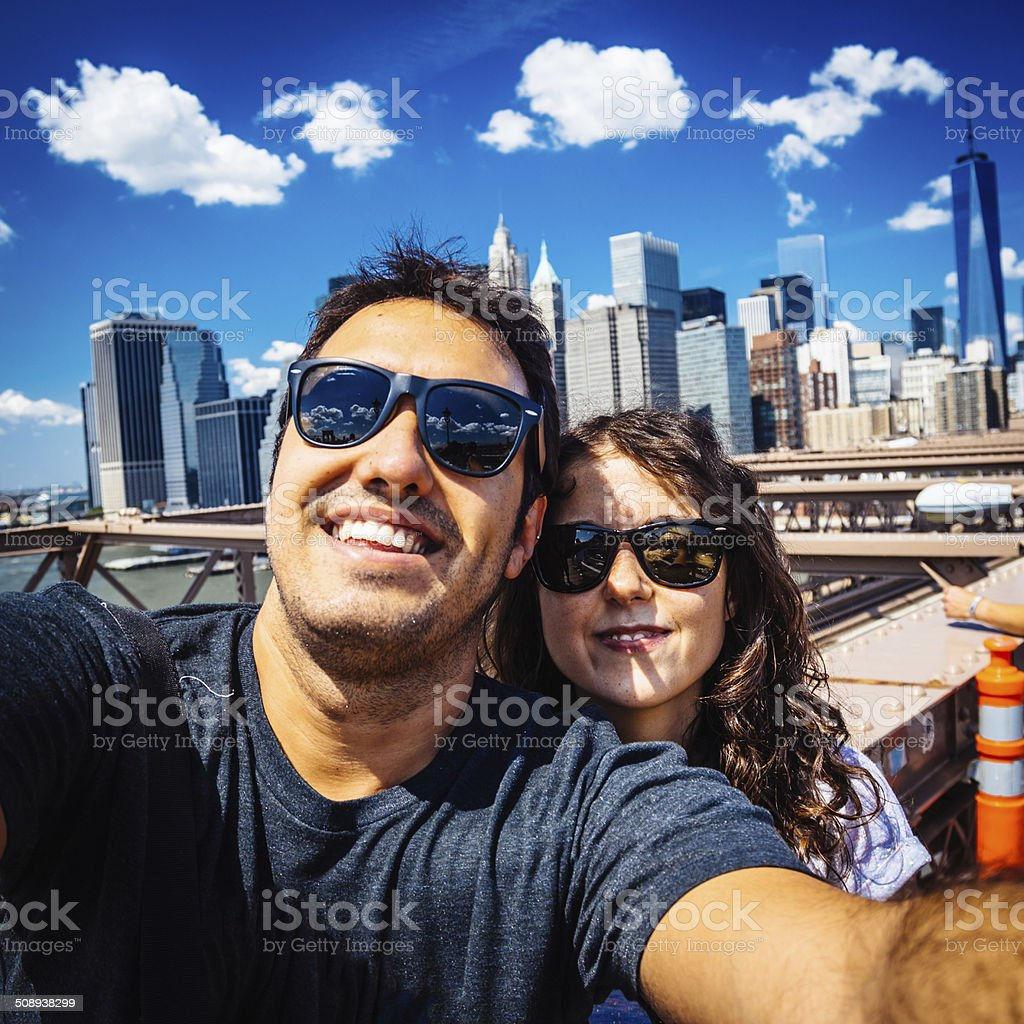 Vacations Selfie in New York royalty-free stock photo