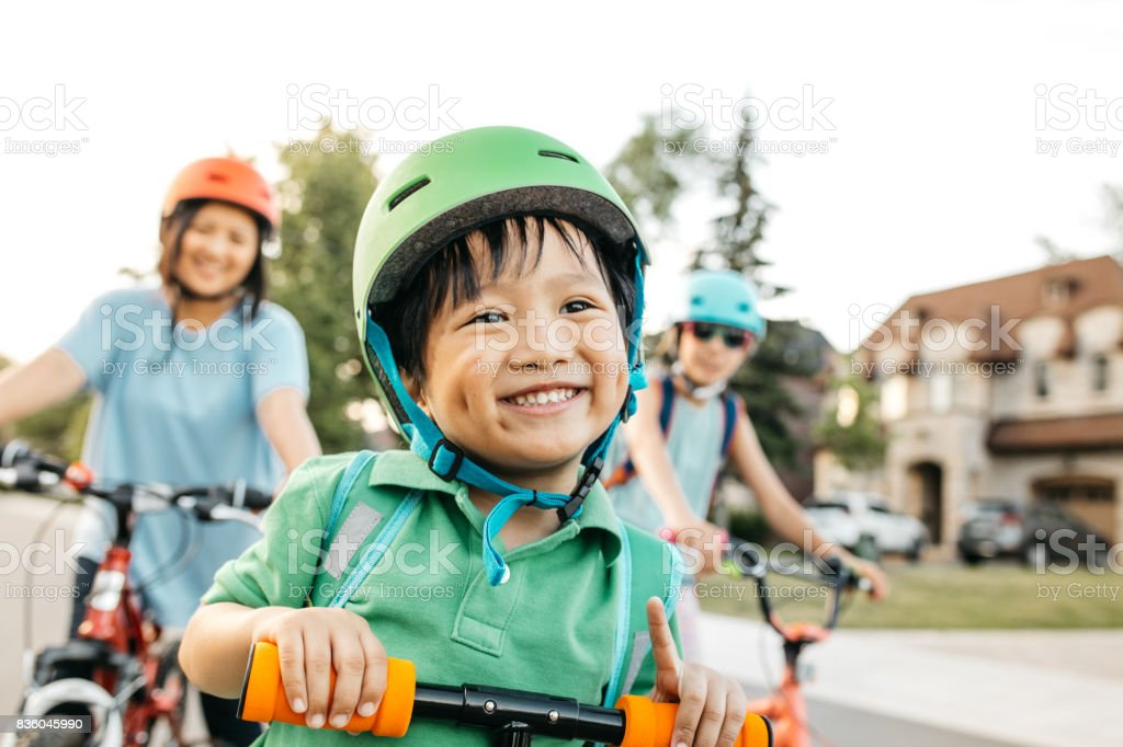 Vacations with kids stock photo
