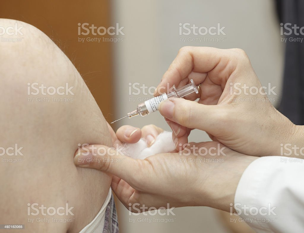 vaccination syringe medicine health care stock photo
