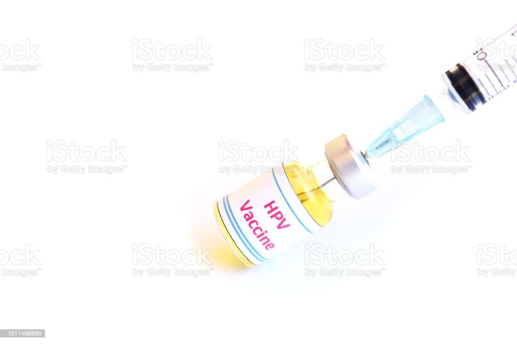 Vacuna contra el VPH para la inyección - foto de stock